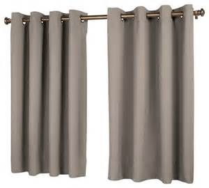 Curtains 56 Length Ultimate Black Out Length Panel Grey 56 X 45 Traditional Curtains By Ricardo Trading