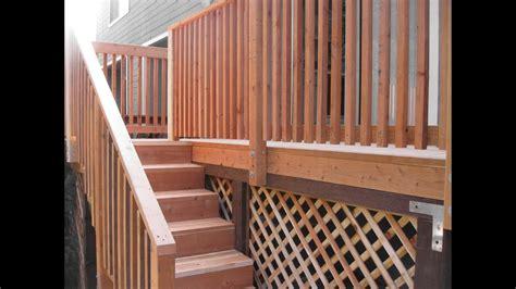 wood deck stair railing designswood deck stair railing