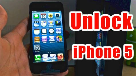 how to unlock iphone 5 works for all versions