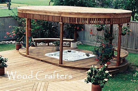 Backyard Spa Cover by Tub Cover Backyard Ideas