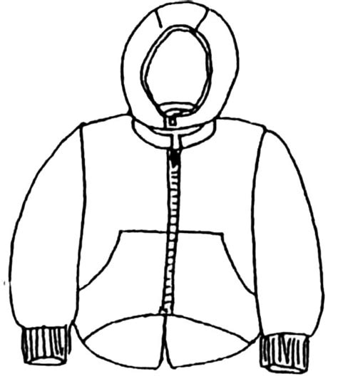 coloring sheets of winter clothes coloring page