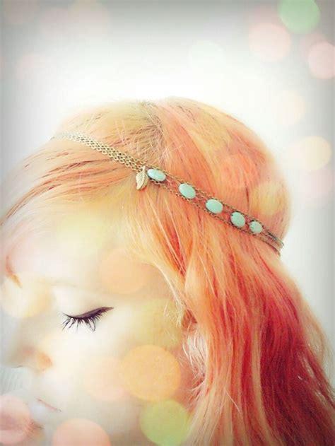 Headpiece Headband Chain boho chain headpiece hairband bohemian bronze chain hippy