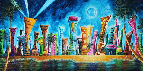 paint nite garden city eclectic funky cityscapes whimsical for licensing
