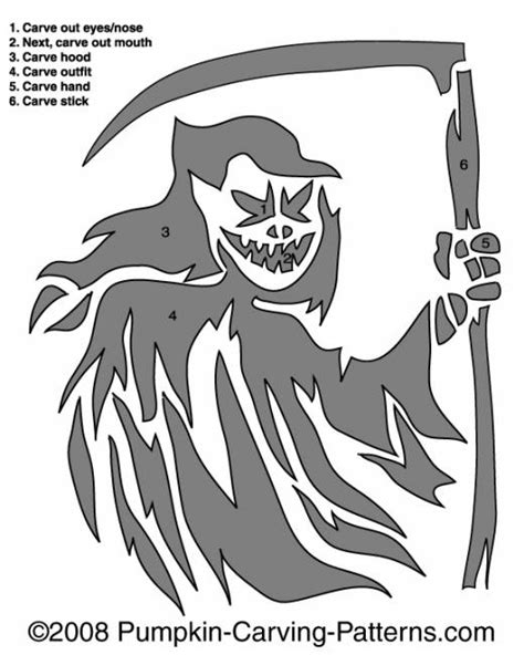 printable grim reaper pumpkin stencils grim reaper pumpkin carving pattern halloween pumpkin