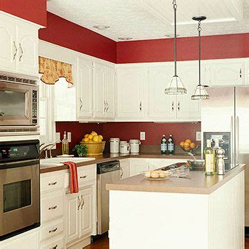red and white kitchen cabinets pinterest the world s catalog of ideas
