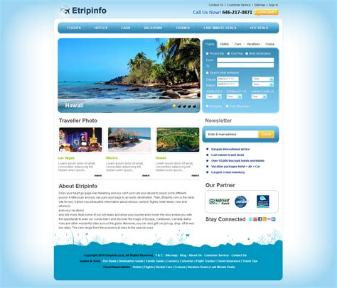 travel agency web design templates free download sharp