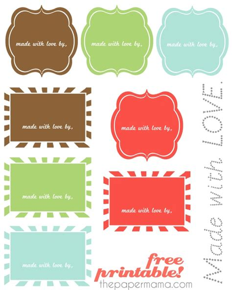 made with love labels free quot made with love quot printable labels printables