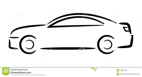 cartoon sports car black and white cartoon car outlines images