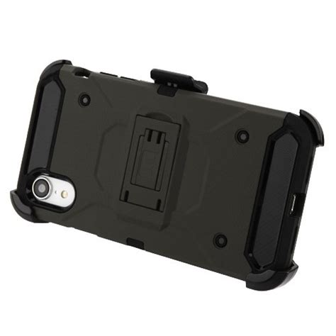 for iphone xr 3 in 1 kinetic hybrid protector cover combo w black holster ebay
