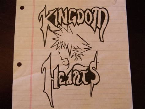 Drawing 4 Hours A Day by 4 Hours Drawing Kingdom Hearts Logo By Soraxxx12 On Deviantart