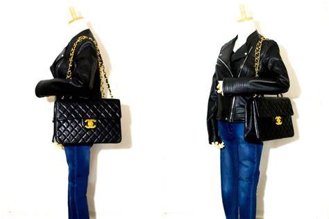J Flap Bag With Chain Blue chanel jumbo 13 quot maxi 2 55 flap chain shoulder bag xl