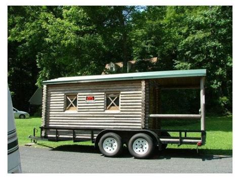 Cabin On Wheels For Sale by Log Cabin On Wheels With Covered Porch For Sale 3 500