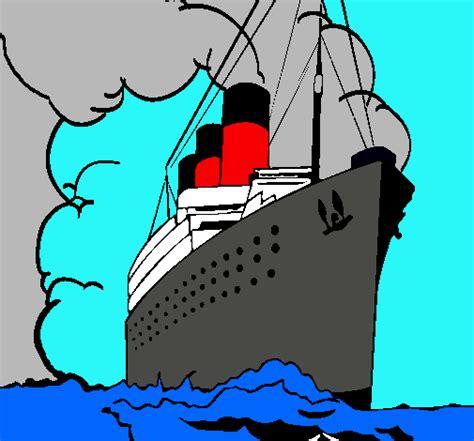 dibujo barco titanic para colorear dibujo de barco de vapor pintado por titanic en dibujos