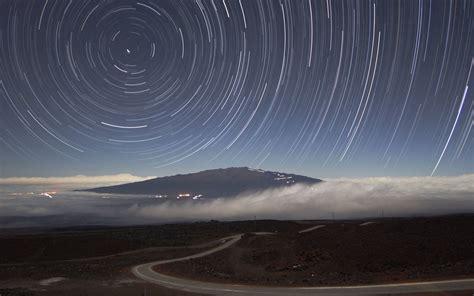 landscapes long exposure star trails wallpaper