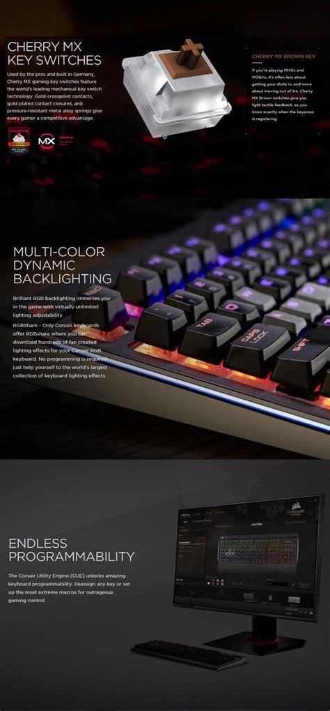 Keyboard Corsair Strafe Rgb Mechanical Cherrymx Brown Rgb Led 1 corsair strafe rgb mechanical gaming keyboard cherry mx