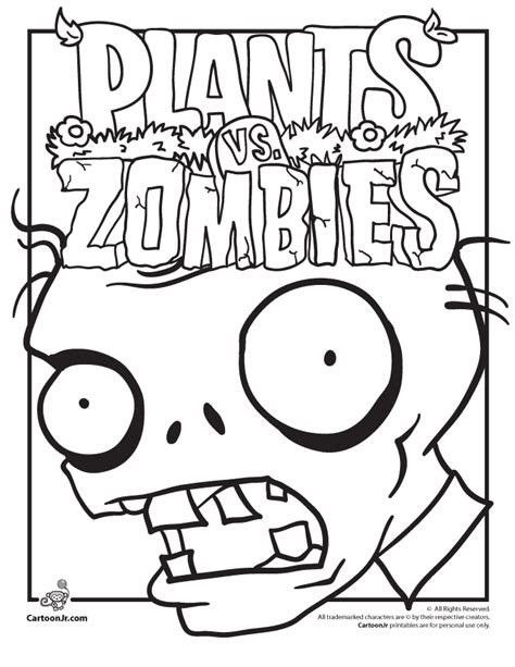plants vs zombies coloring pages az coloring pages