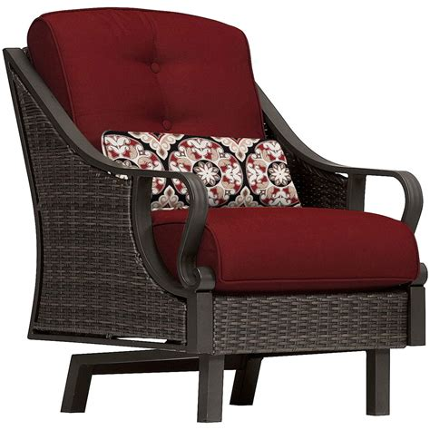 hanover ventura  piece patio set  crimson red