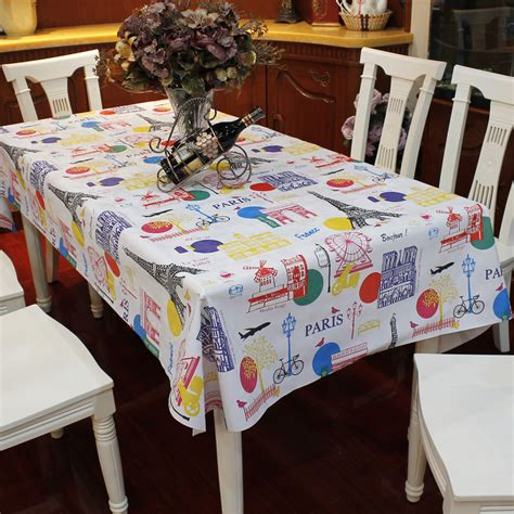kitchen table covers multi size waterproof pvc tablecloth pattern home