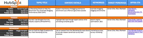 9 Free Microsoft Excel Templates To Make Marketing Easier Hubspot Marketing Templates