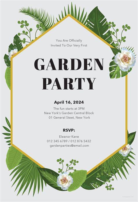 Free Garden Party Invitation Template In Microsoft Word Microsoft Publisher Adobe Illustrator And Invite Template