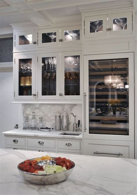bar cabinet with sink and fridge bar in kitchen and hardware on pinterest