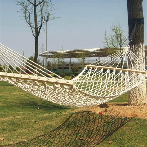 garden swing hammock outdoor double cotton mesh hammock garden patio swing bed