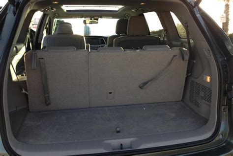 toyota highlander 3rd row seat space 2014 toyota highlander gets redesigned with families in