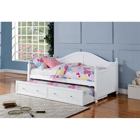 cymax headboards coaster daybed with trundle in white 300053