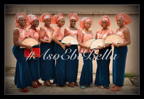 peach navy blue nigerian bellanaija weddings presents asoebibella vol 3