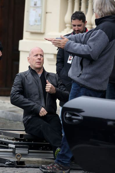 Bruce Willis Seen Out With by Bruce Willis Is Seen Filming An For Quot 2
