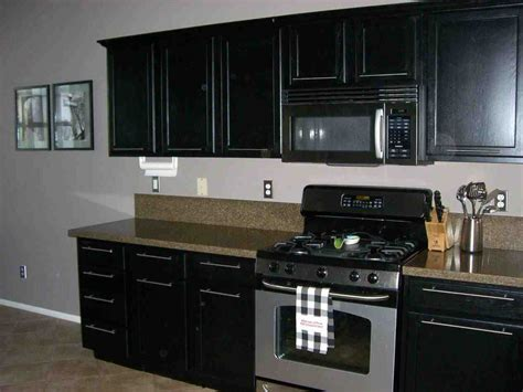 Black Kitchen Cabinet Paint Black Distressed Painted Kitchen Cabinets Temasistemi Net