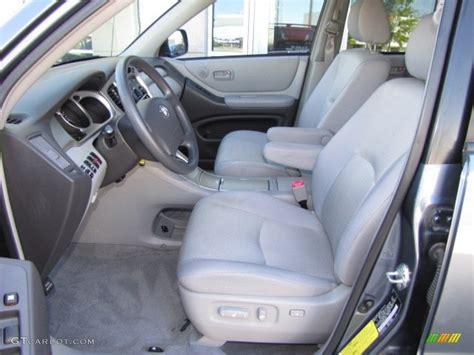 2007 toyota highlander standard highlander model interior