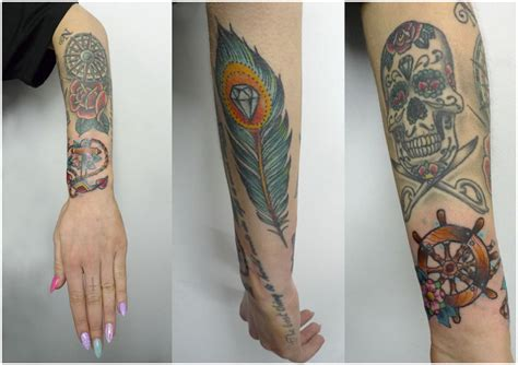 half body tribal tattoos anchor archives tribal