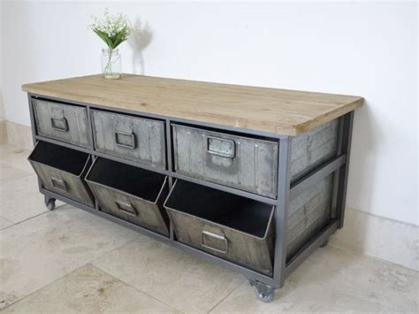 industrial metal storage cabinets industrial style metal wood storage cabinet on wheels ebay