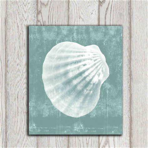 seashell wall decor bathroom seashell printable turquoise teal from dorindaart on etsy
