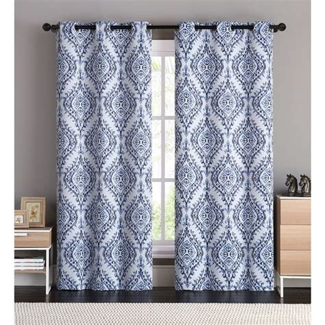 blackout curtains london vcny brandy flocked 84 inch back tab curtain panel