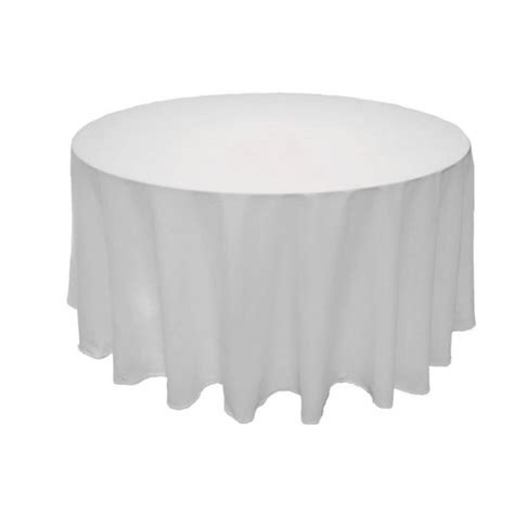 nappe pour table ronde 1307 nappe ronde blanche 300cm en tissu 100 coton badaboum