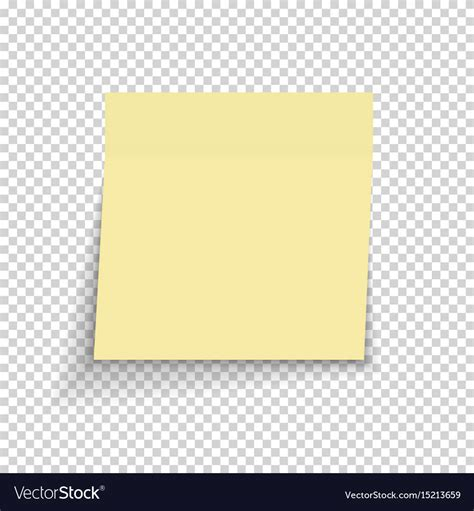 notes transparent background sticky paper note on transparent background vector image