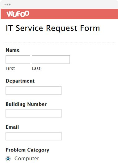 it service request form template form template wufoo