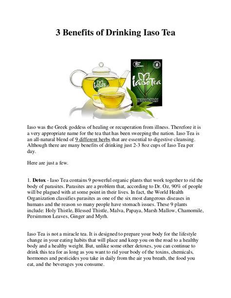 Side Effects Of Iaso Detox Tea 3 benefits of iaso detox tea