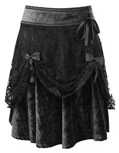 Velvet Umbrella Skirt Rok Velvet Polos studded belt with black shorts silver chain rock apparel s fashion rock n roll heavy