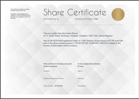 shareholding certificate template another inform direct product update october 2016