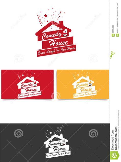 comedy house comedy house logo stock vector image 68584639