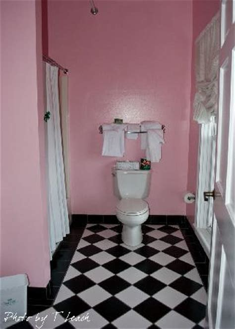 black white pink bathroom the charming pink bathroom with black and white tile picture of grand hotel