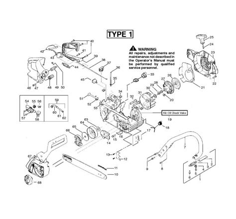mcculloch parts diagram mcculloch mac cat 442 952802117 chainsaw chassis