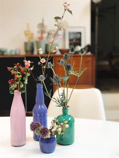 crafty chic come trasformare in vasi le bottiglie di
