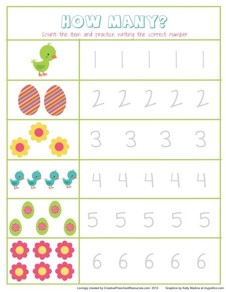 worksheets for preschool easter easter math activities creative preschool resources
