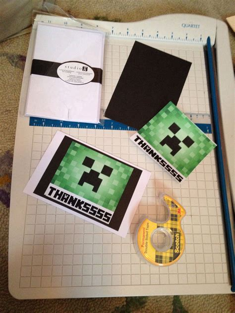 Minecraft Thank You Card Template by Easy To Make Minecraft Thank You Cards Using This Template