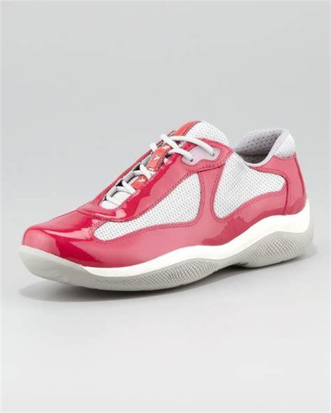 prada sport sneaker in pink pink silver lyst