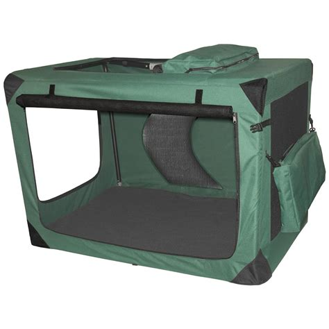 portable crate pet gear 174 large generation ii deluxe portable soft crate moss green 176271